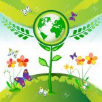 8193667-Eco-Earth-flower-garden-butterflies